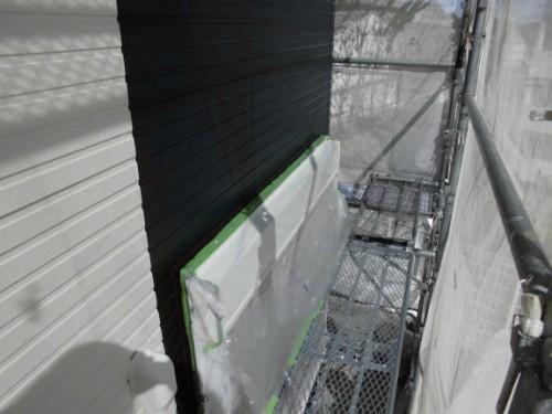 2014年3月22日 栄区公田町:シャッターボックス中塗り後