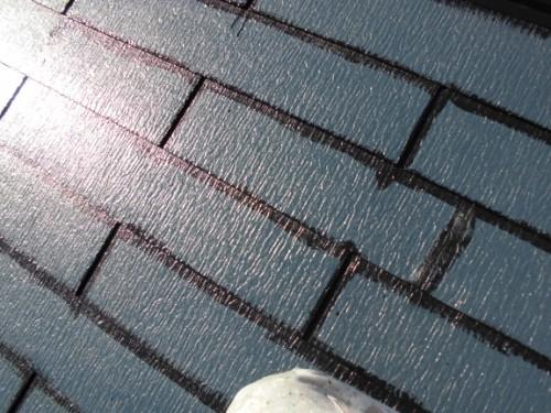 2014年3月22日 栄区公田町:屋根中塗りダメ込み