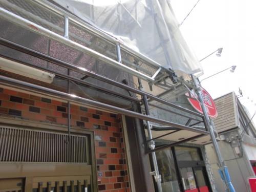 横浜市神奈川区:軒先テント鉄部塗装後