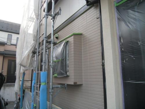 旭区鶴ヶ峰本町:1階外壁中塗り完了