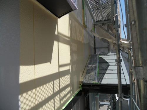旭区鶴ヶ峰本町:外壁上塗り