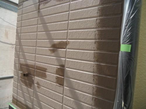 旭区鶴ヶ峰本町:1階外壁上塗りダメ込み