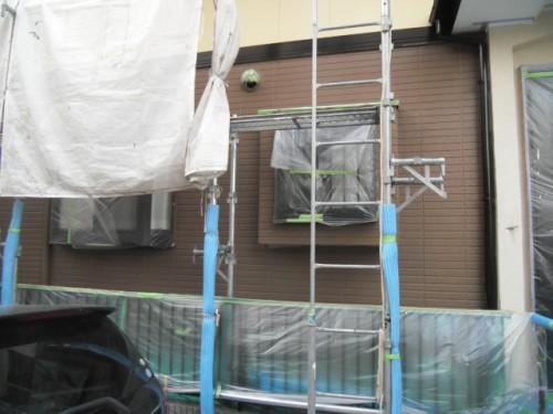旭区鶴ヶ峰本町:1階外壁上塗り後