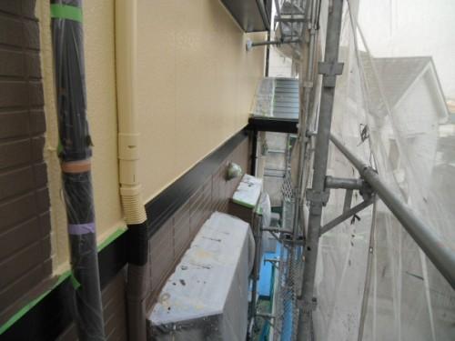 旭区鶴ヶ峰本町:1階外壁上塗り後3