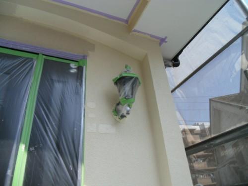 横浜市旭区:玄関周り外壁上塗り2