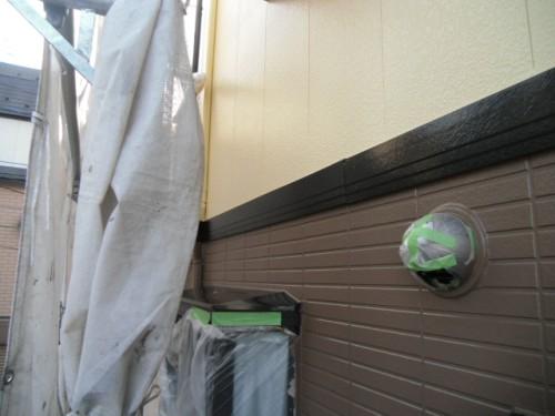 横浜市旭区:帯板塗装完了