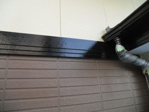 横浜市旭区:帯板塗装完了2