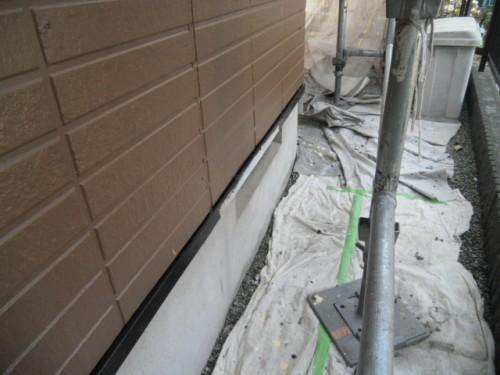 横浜市旭区:未塗装部の水切り
