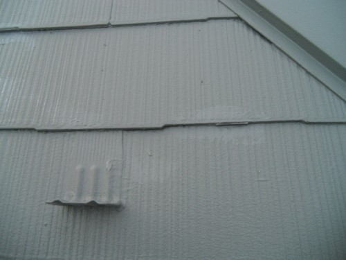横浜市旭区:屋根縁切り部タッチアップ2