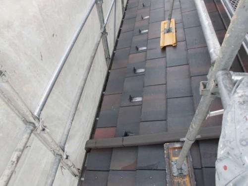川崎市宮前区:洗浄後の下屋根