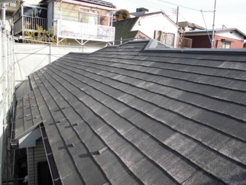 横浜市保土ヶ谷区:洗浄後の屋根2