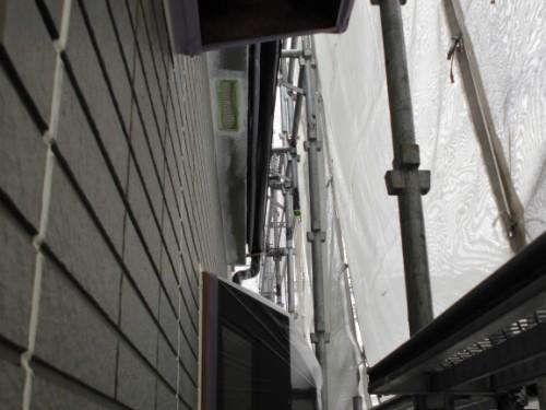 横浜市保土ヶ谷区:換気孔周り下塗り