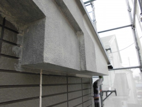 横浜市保土ヶ谷区:軒・破風中塗り