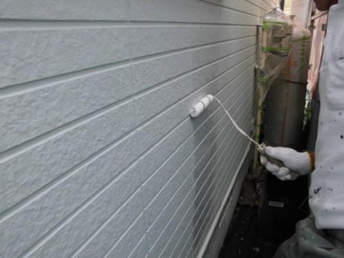 横浜市保土ヶ谷区:外壁クリヤー上塗り