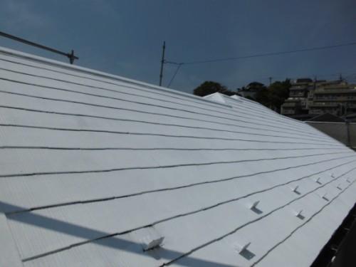 横浜市保土ヶ谷区:屋根中塗り2回目2