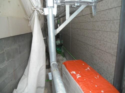 横須賀市久里浜:土間・室外機養生