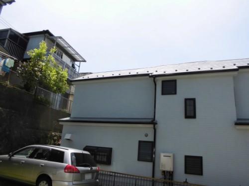 横浜市保土ヶ谷区:足場解体後の外壁・屋根