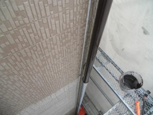 横須賀市久里浜:樋の中塗り