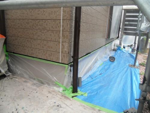 横須賀市久里浜:樋の中塗り後