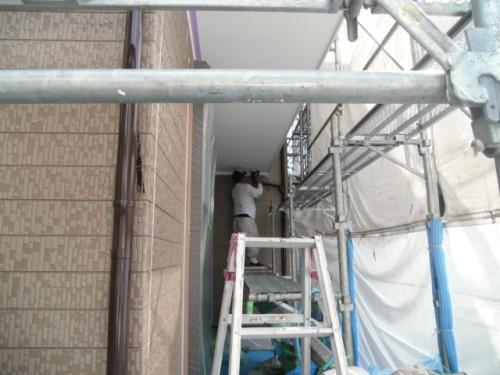 横須賀市久里浜:雨樋養生