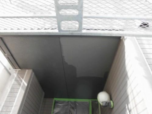 横浜市旭区:玄関前軒天下塗り