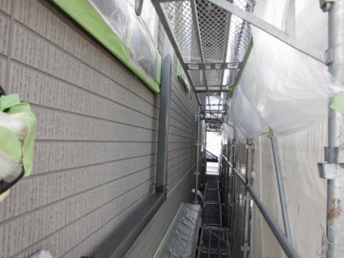 横浜市旭区:雨樋下塗り2