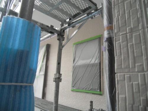 横須賀市久里浜:外壁中塗り後