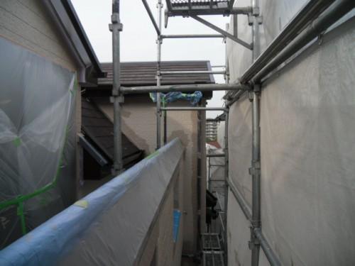 横須賀市久里浜:外壁上塗りダメ込み
