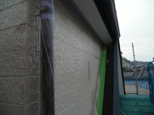 横須賀市久里浜:外壁上塗りダメ込み2