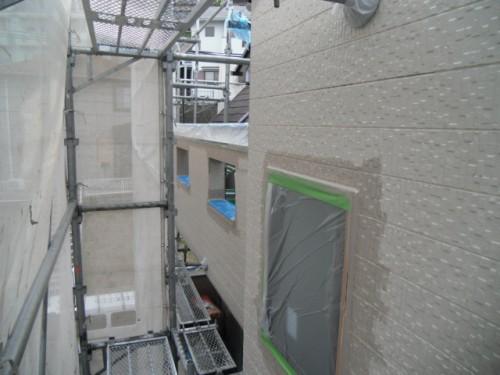 横須賀市久里浜:外壁上塗りダメ込み3