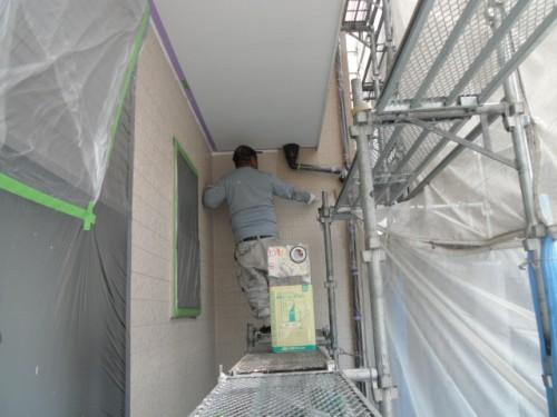 横須賀市久里浜:サイディング外壁上塗り