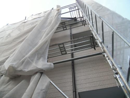横須賀市久里浜:外壁上塗り2回目