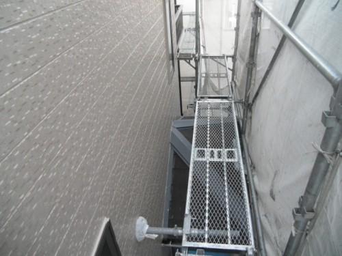 横須賀市久里浜:外壁上塗り2回目2
