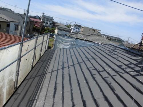 横浜市旭区:屋根上塗りダメ込み