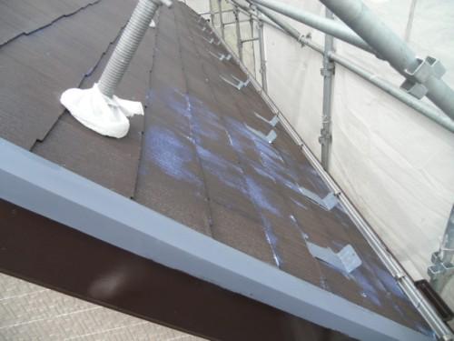 横須賀市久里浜:屋根シーラー下塗り
