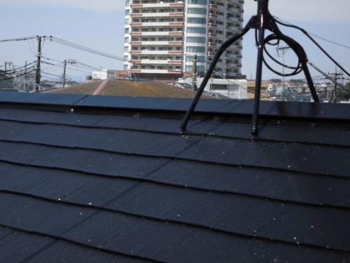 横浜市旭区:屋根鉄部・アンテナ上塗り後