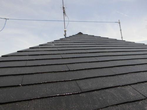 横浜市旭区:屋根上塗り完了後