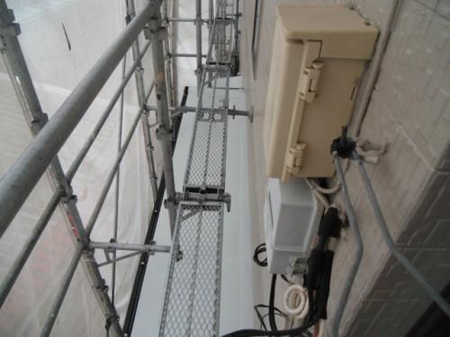 横須賀市久里浜:下屋根中塗り2回目完了