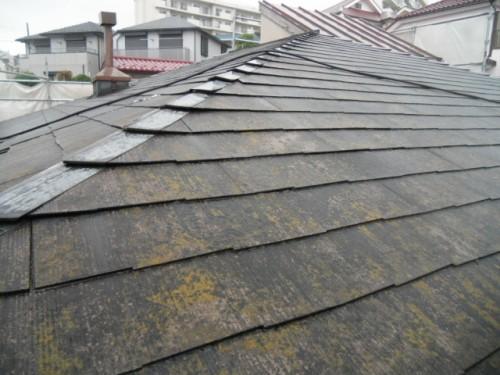 横浜市磯子区:屋根洗浄前