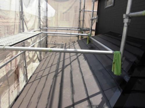 横浜市旭区:下屋根上塗りダメ込み
