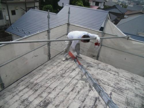横浜市磯子区:屋根鉄部サビ止め塗布