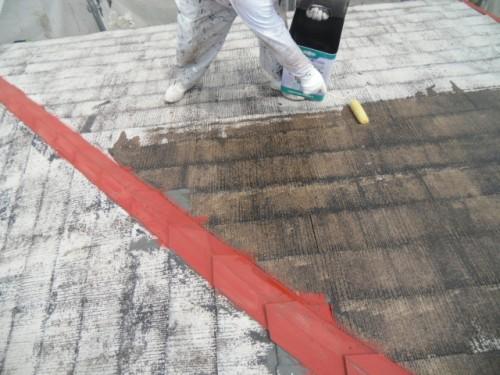 横浜市磯子区:屋根下塗り