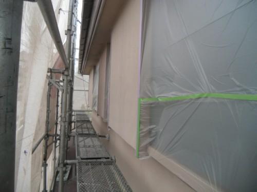 横浜市磯子区:窓の養生