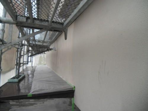 横浜市磯子区:モルタル外壁下塗り2