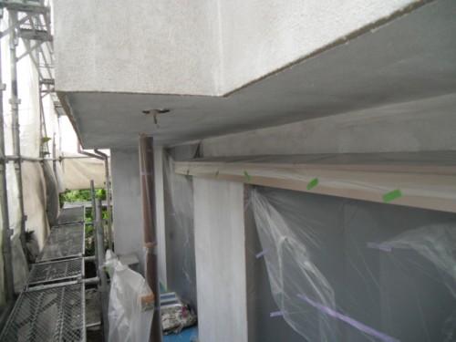 横浜市磯子区:モルタル外壁下塗り3