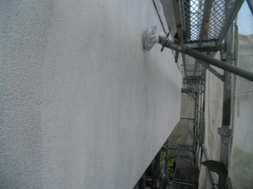 横浜市磯子区:モルタル外壁下塗り後