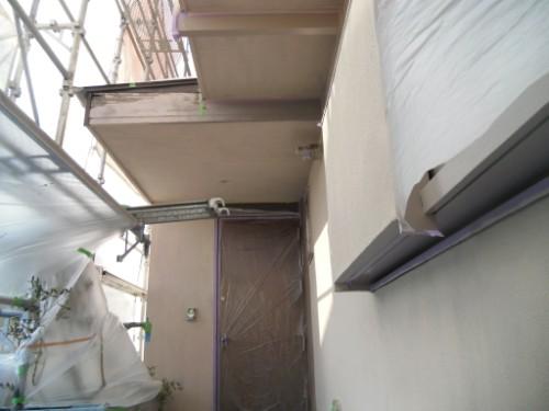 横浜市磯子区:モルタル外壁下塗り後3