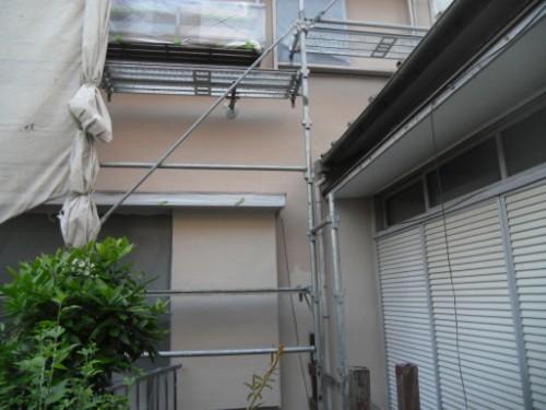 横浜市磯子区:モルタル外壁上塗り