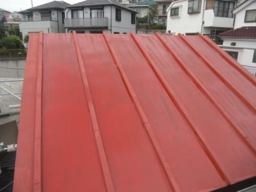 横浜市磯子区:トタン屋根下塗り後