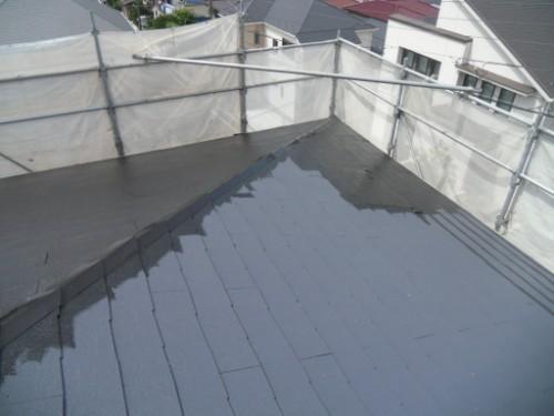 横浜市磯子区:大屋根上塗り